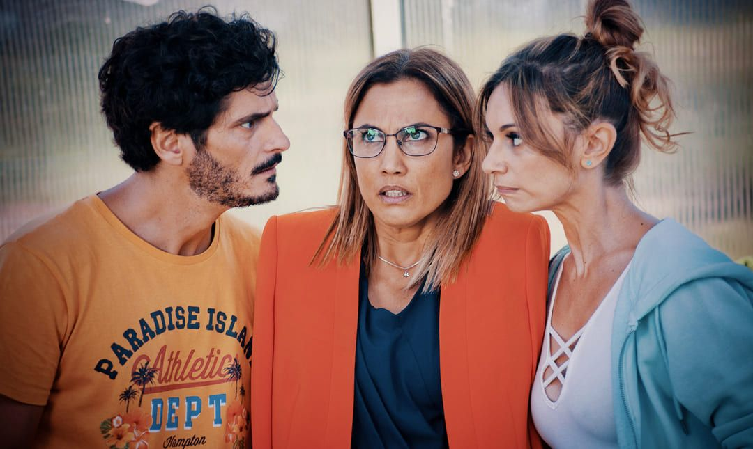 Antonio Pagudo, Toni Acosta y Norma Ruíz en la película