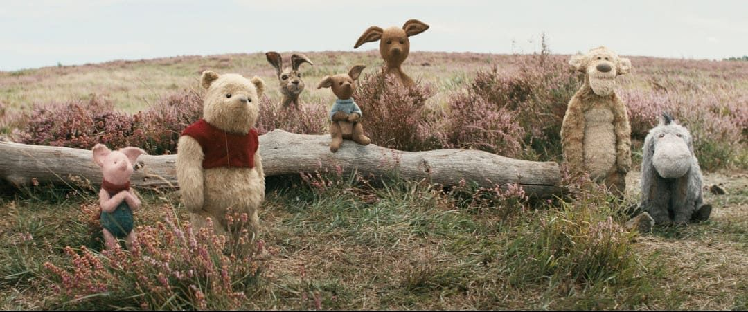 Piglet, Pooh, Rabbit, Roo, Kanga, Tigger en la película