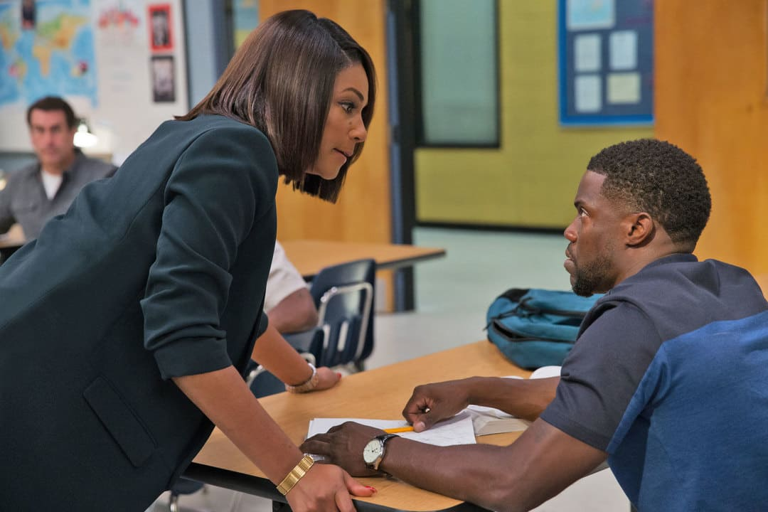 Kevin Hart y Tiffany Haddish en la película Escuela para fracasados