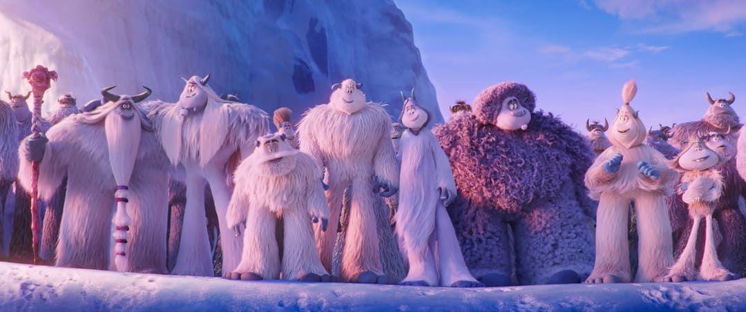 Los miembros de la aldea Bigfoot, los yetis de la película