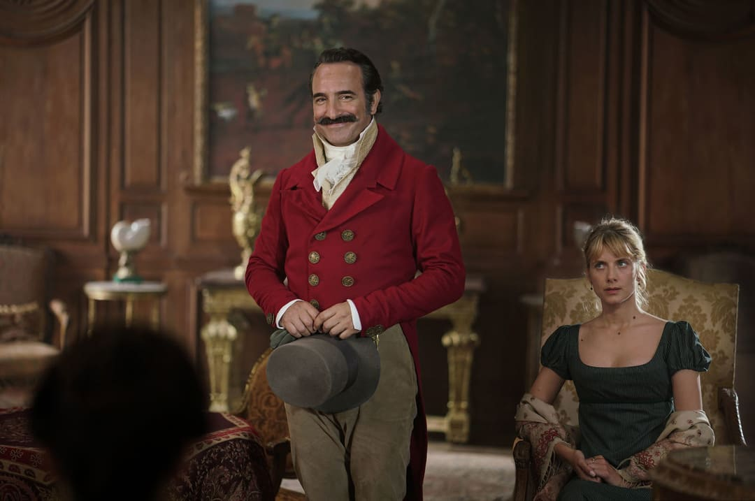 """Jean Dujardin y Mélanie Laurent en la película """"Un seductor a la francesa"""""""