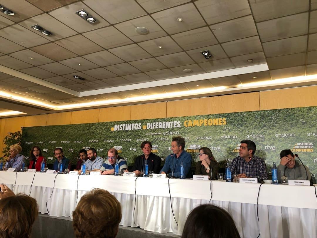 """Rueda de prensa del documental """"Ni distintos ni diferentes: Campeones"""""""