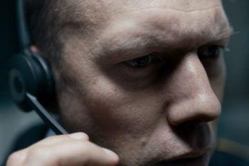 Jakob Cedergren en la película The Guilty