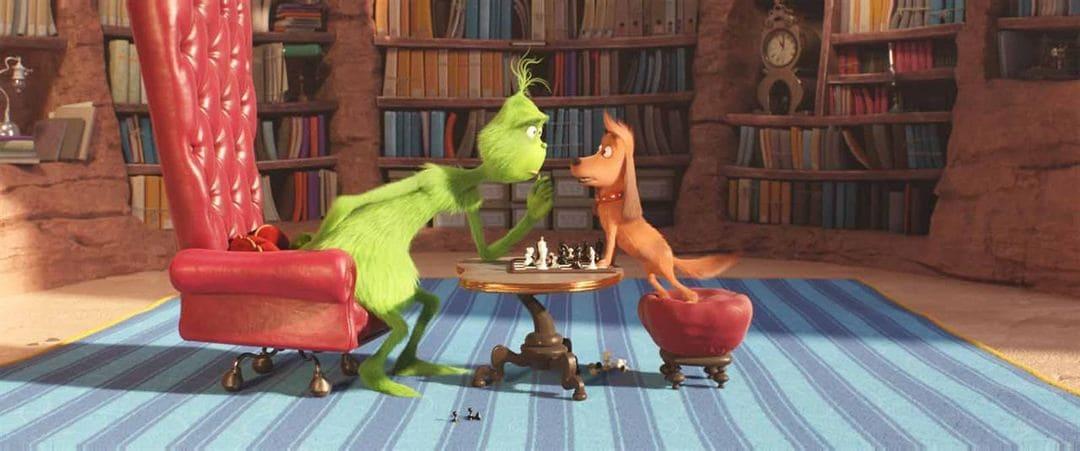 El Grinch y su perro Max en la película de animación