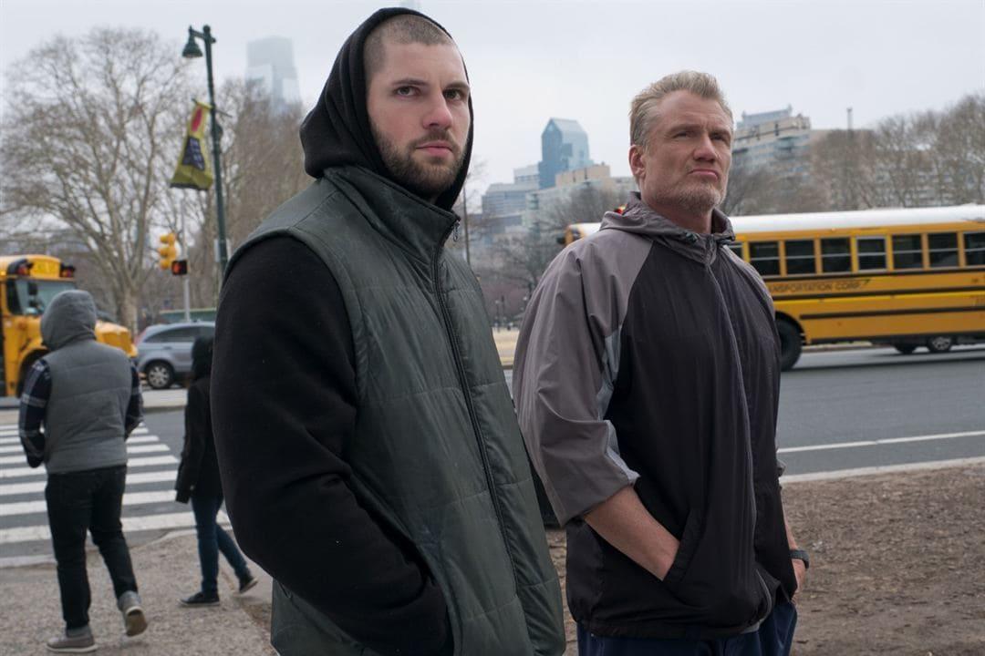 Dolph Lundgren y Florian Munteanu en la película Creed 2
