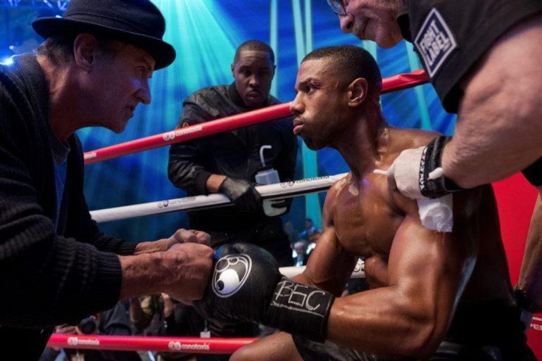 Michael B. Jordan y Sylvester Stallone en la película Creed 2. La leyenda de Rocky