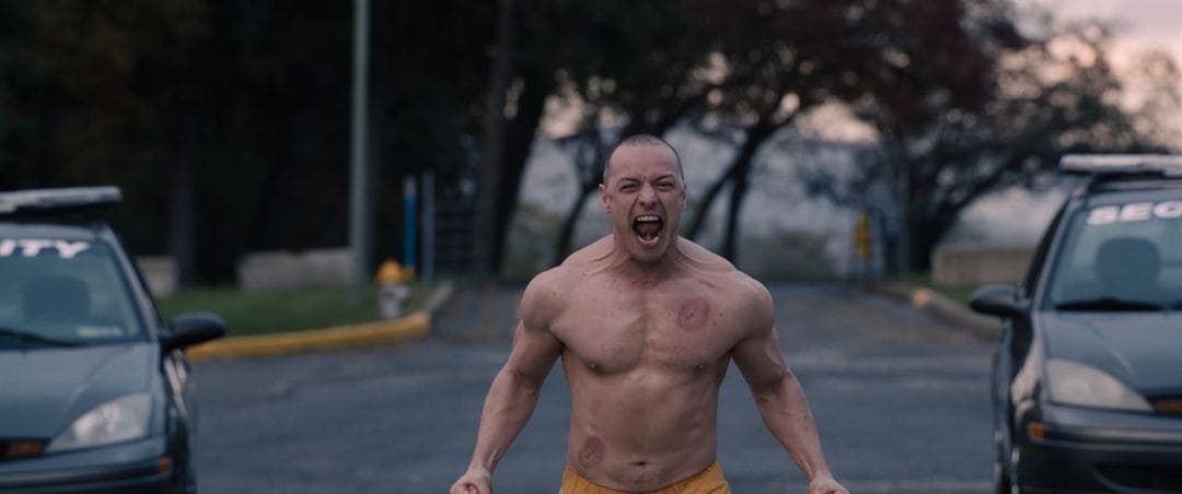 James McAvoy en una escena de Glass (Cristal)