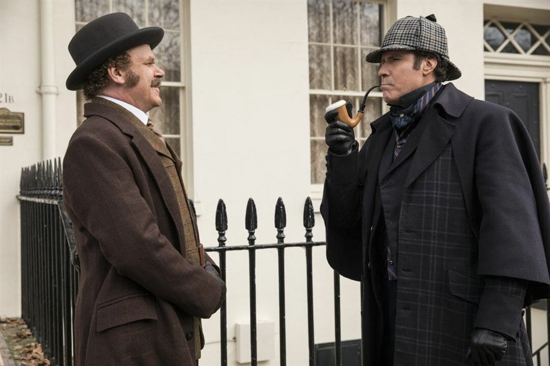 """John C. Reilly y Will Ferrell en la película """"Holmes & Watson"""""""