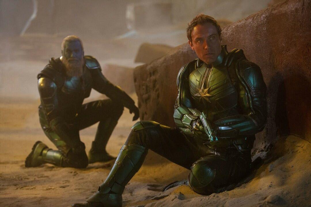 Jude Law y Rune Temte en la película