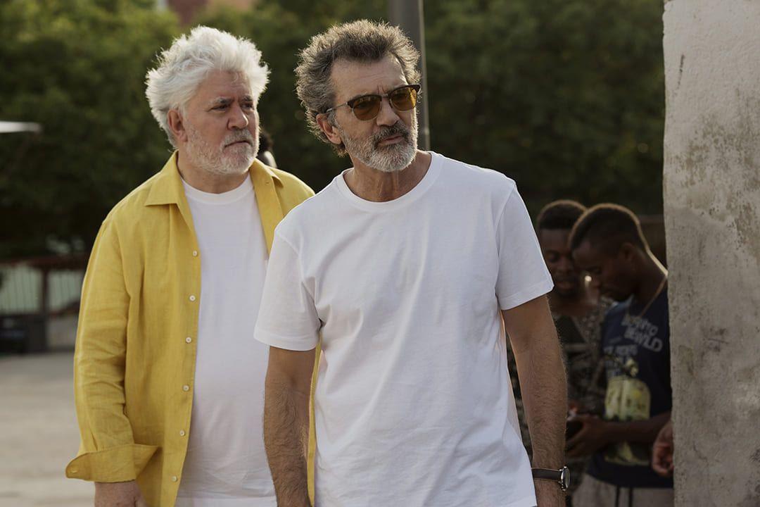 Antonio Banderas y Pedro Almodóvar durante el rodaje