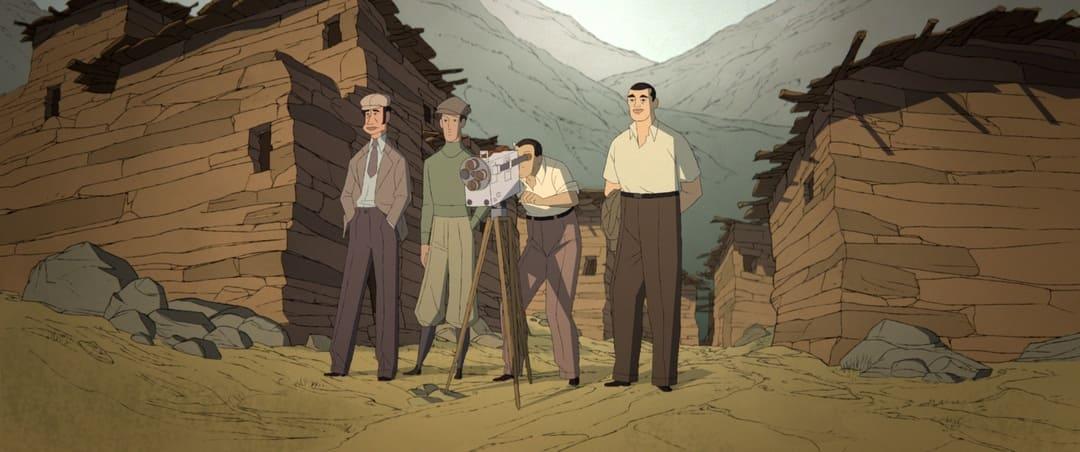 El director Buñuel durante el rodaje