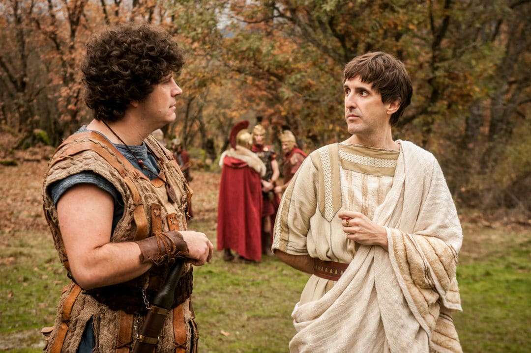Julián López y Xosé A. Touriñán en una escena de la serie