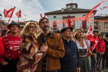 """Jon Plazaola, Maggie Civantos y Secun de la Rosa en """"La pequeña Suiza"""""""