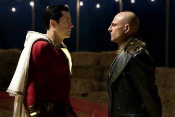 Mark Strong y Zachary Levi en la película