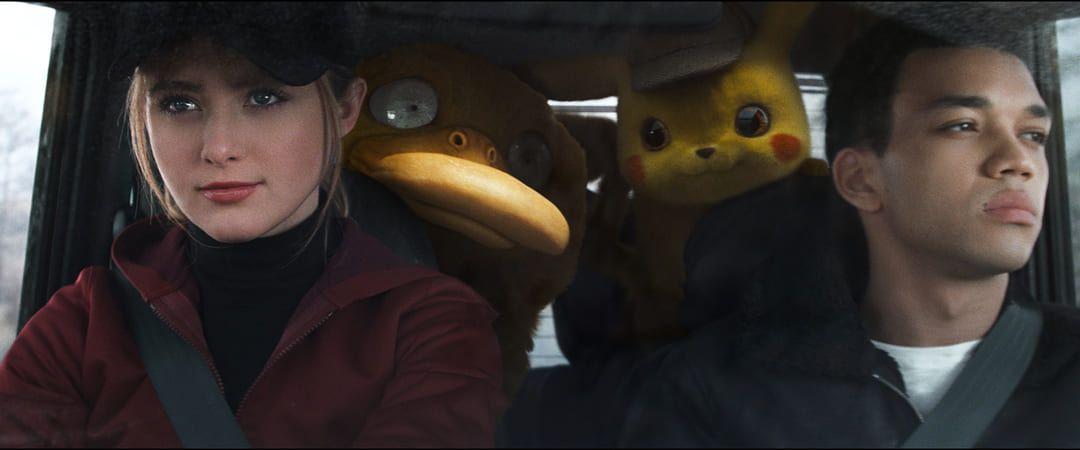 Justice Smith, Kathryn Newton en Pokémon Detective Pikachu