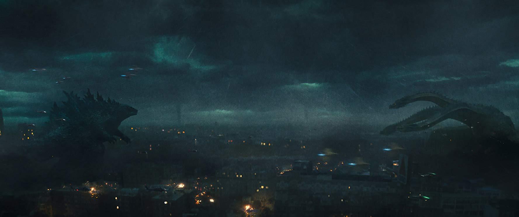 Godzilla contra la Hydra en la película.