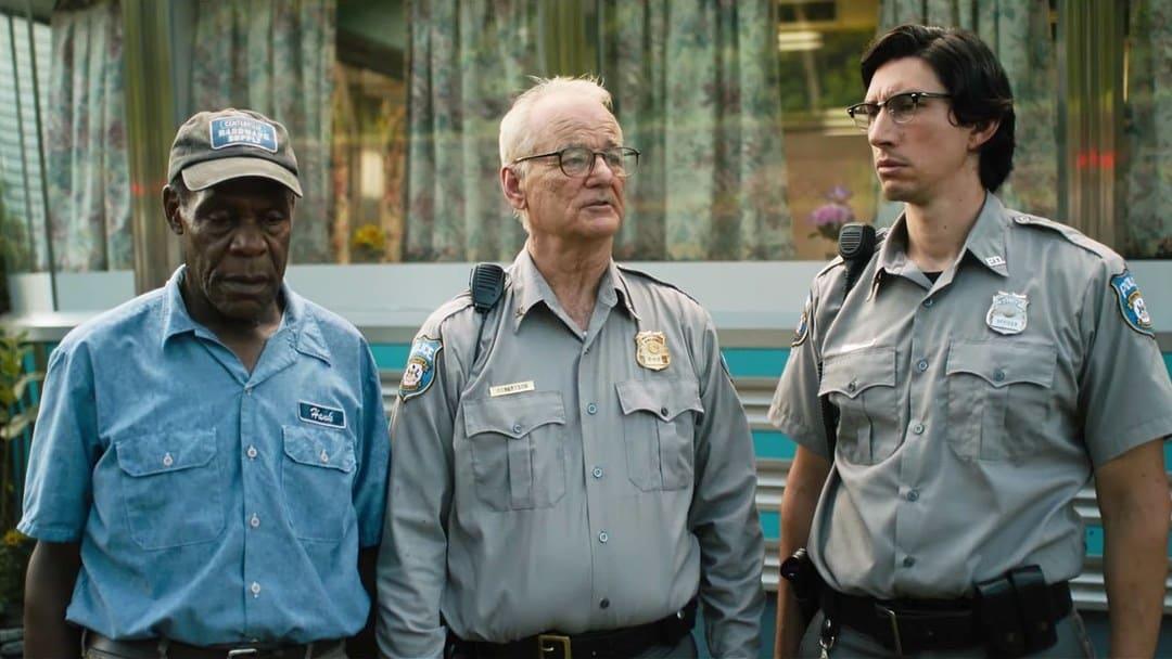 Adam Driver, Bill Murray y Danny Glover en la película