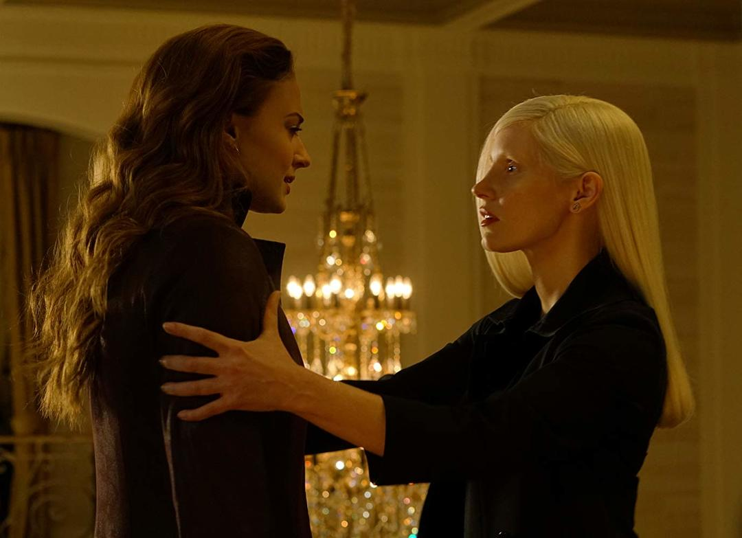 Jessica Chastain y Sophie Turner en X-Men Fénix Oscura