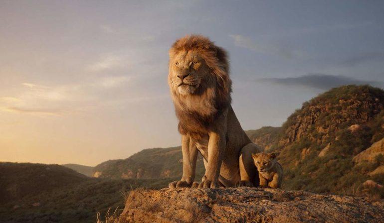 Imagen de la película El Rey León en su versión 2019