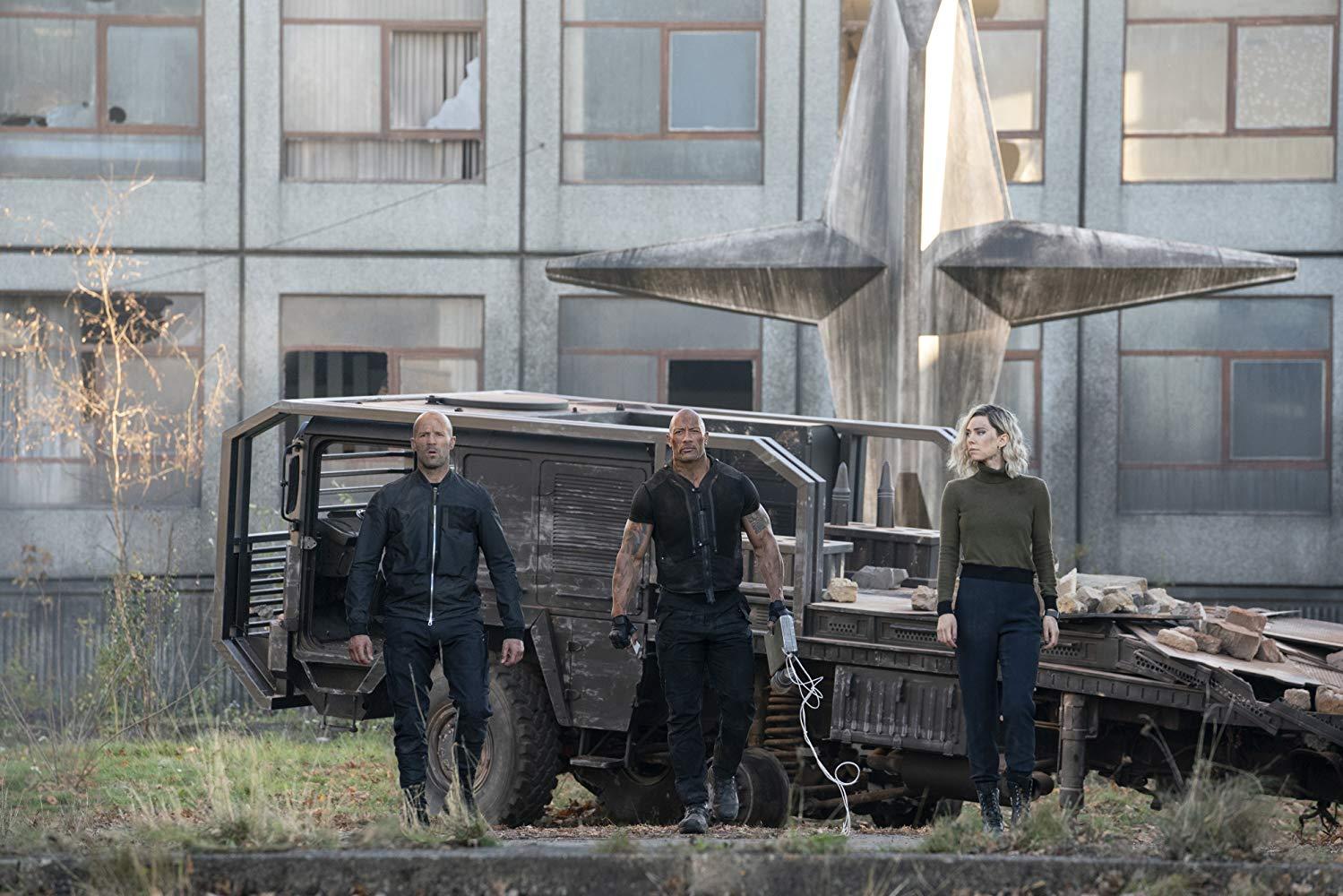 Jason Statham, Dwayne Johnson, Vanessa Kirby en Hobbs y Shaw (Crítica de la película)
