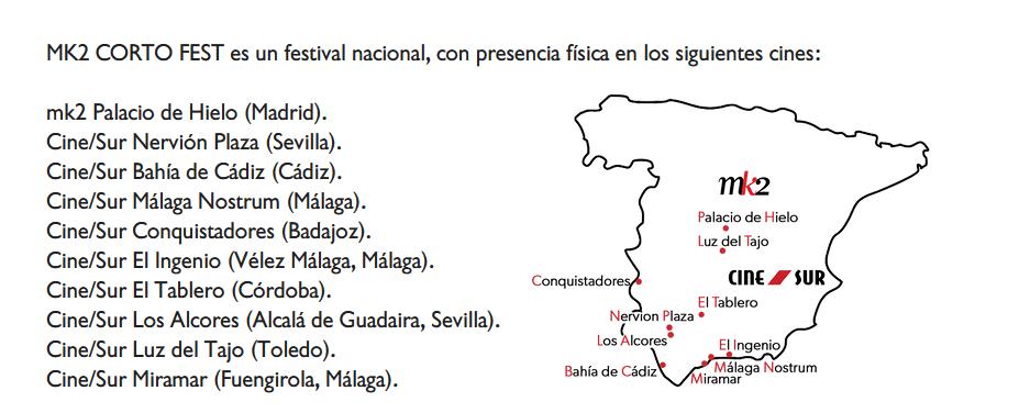 Mapa del festival Mk2 Cortofest