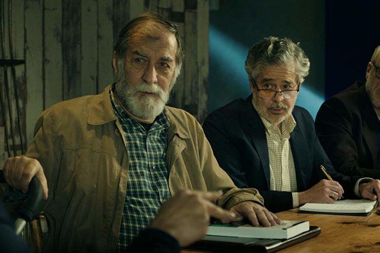 Ramon Barea - Carlos Iglesias y Roberto Alvarez en la película Abuelos (2019)