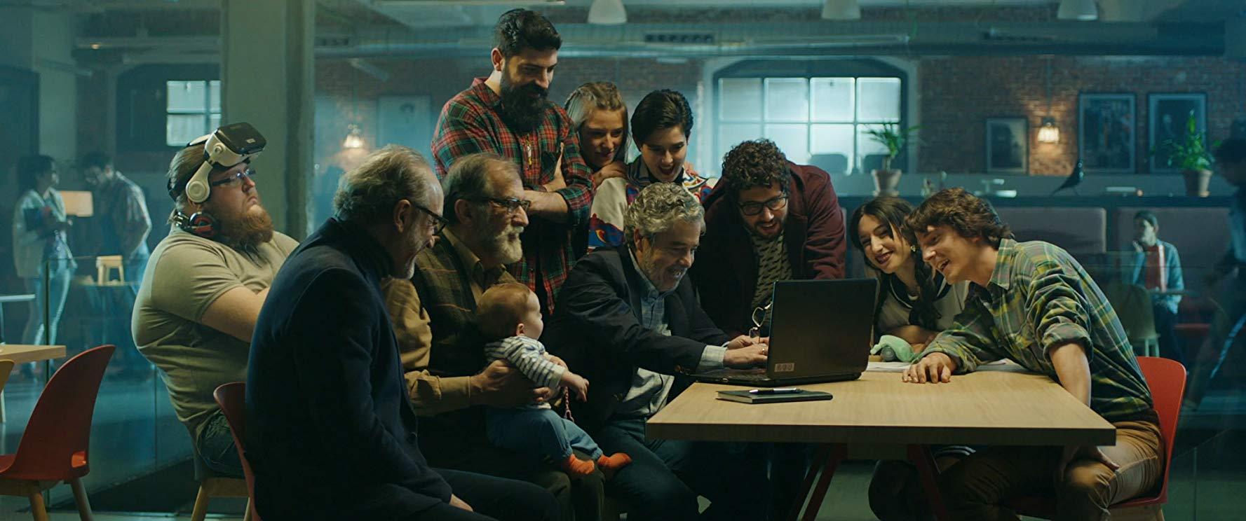 Ramon Barea - Carlos Iglesias y Roberto Alvarez en una imagen de la película Abuelos (2019)
