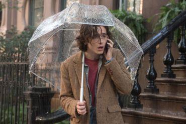 Timothée Chalamet en Día de lluvia en Nueva York
