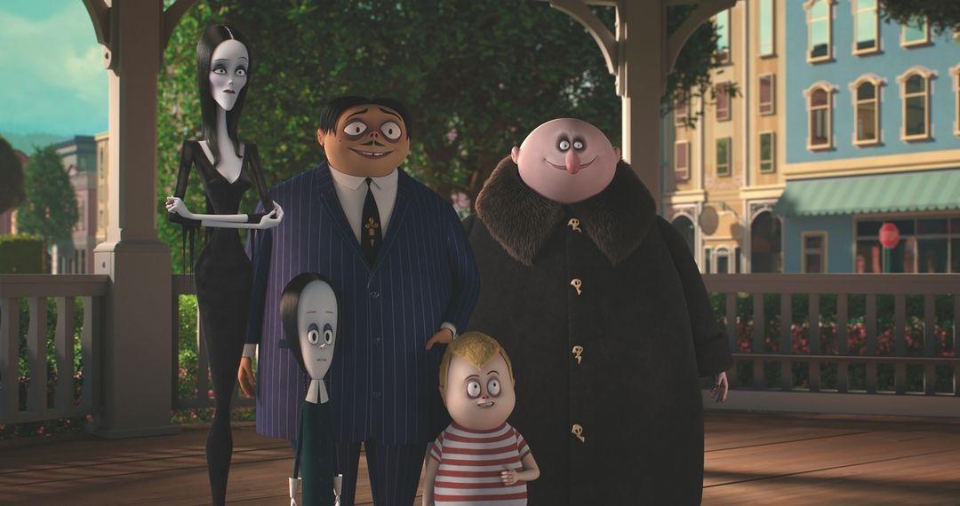 El clan Addams al completo