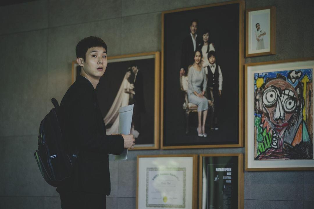 Woo-sik Choi en la película Parasitos