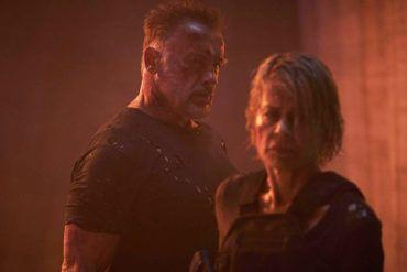 Arnold Schwarzenegger y Linda Hamilton en la película