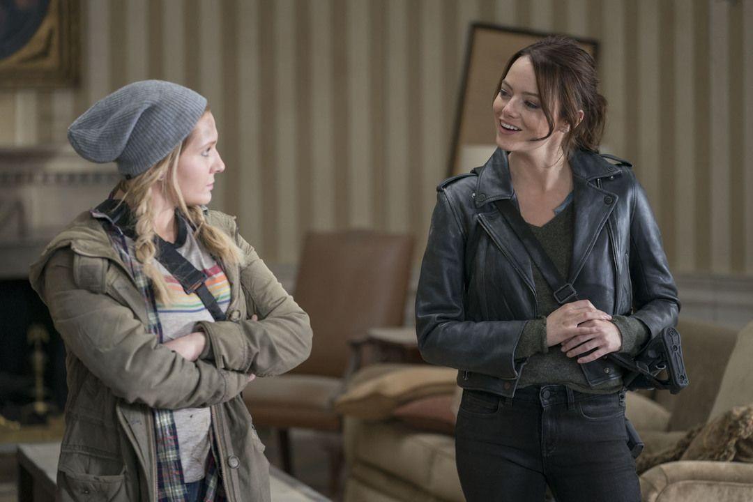 Abigail Breslin y Emma Stone en Zombieland 2
