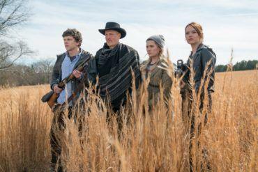 Abigail Breslin, Emma Stone, Jesse Eisenberg y Woody Harrelson en la película