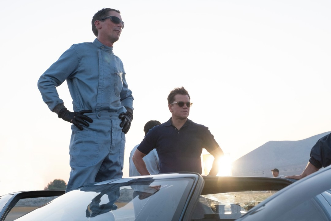 Matt Damon y Christian Bale en la película Le Mans 66
