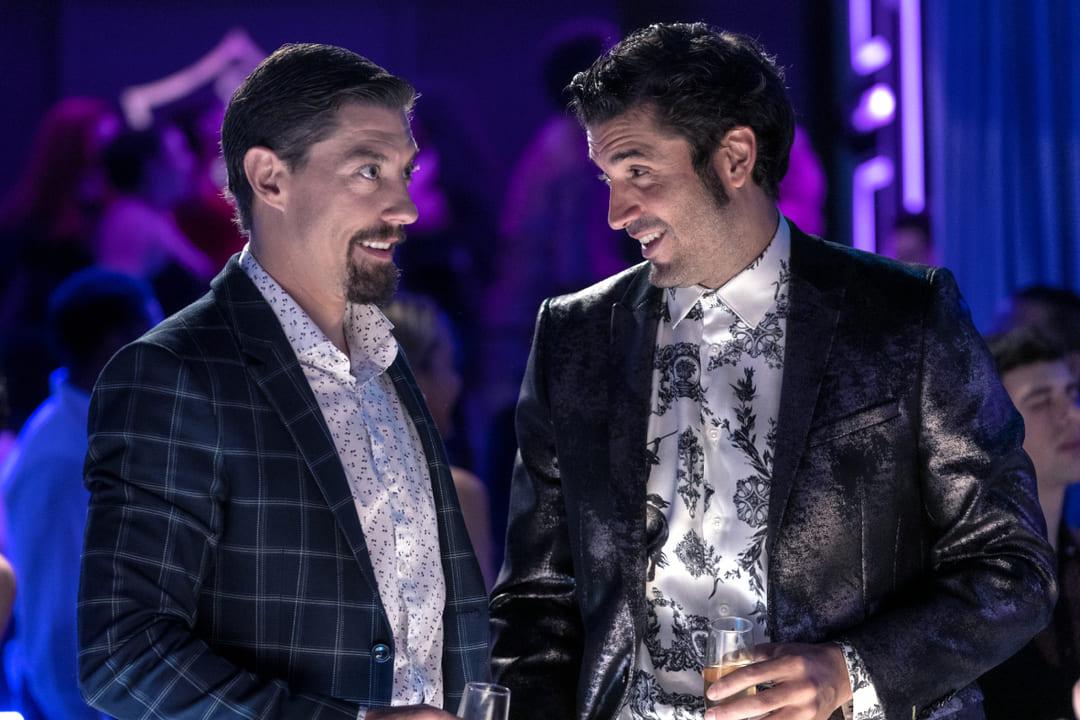 Álex García y Adrián Lastra en la película