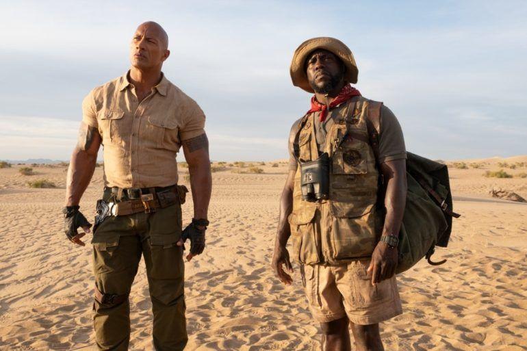 Dwayne Johnson y Kevin Hart en la película Jumanji 2