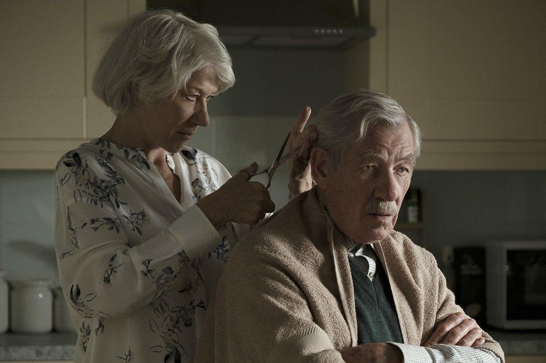 Helen Mirren y Ian McKellen en La gran mentira