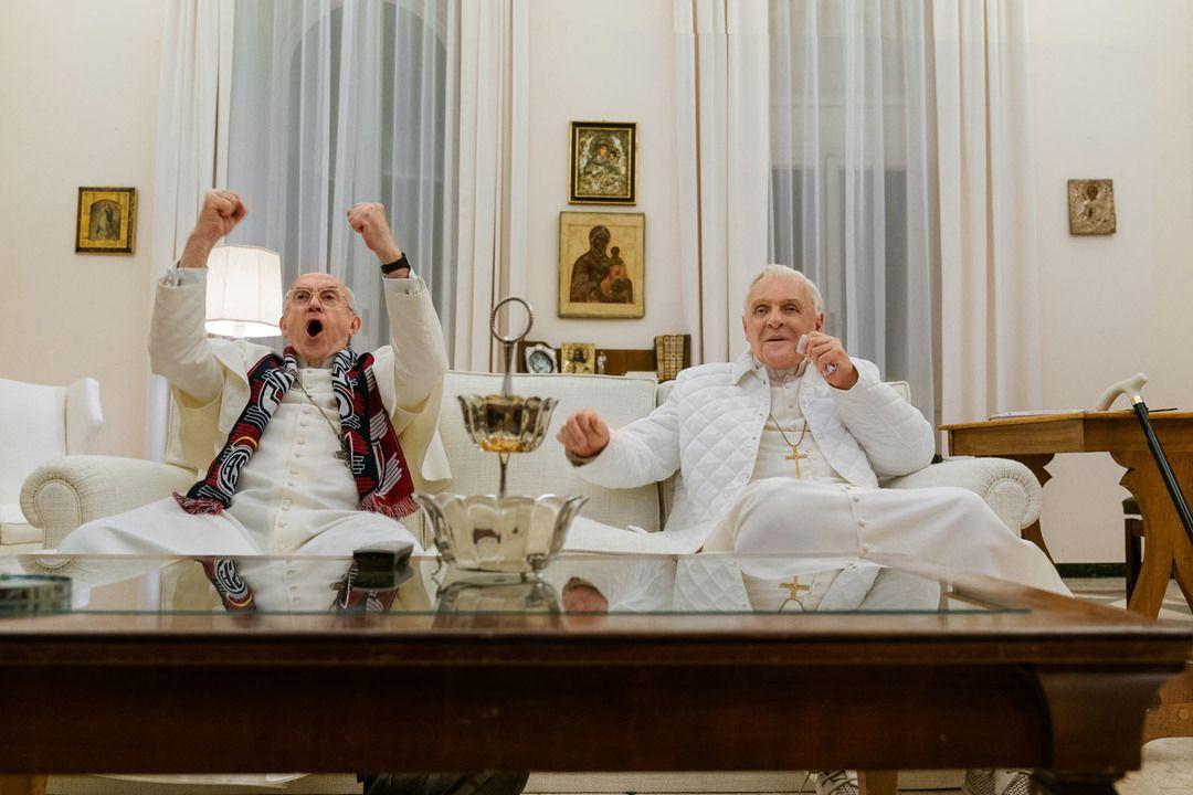 Imagen de la película Los dos papas de Netflix