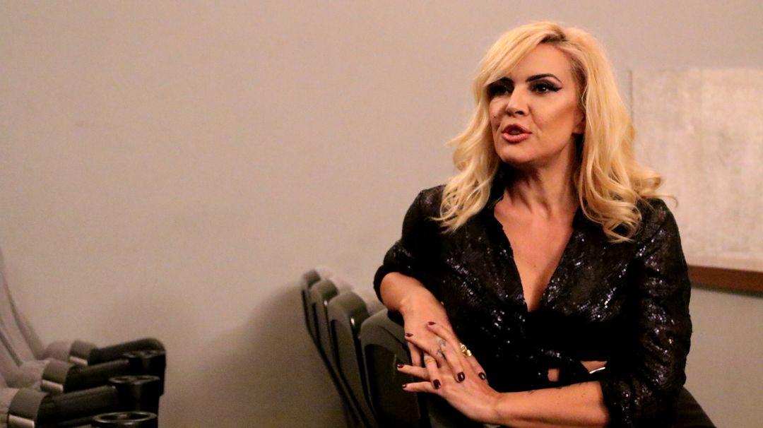 Silvia Superstar durante la entrevista
