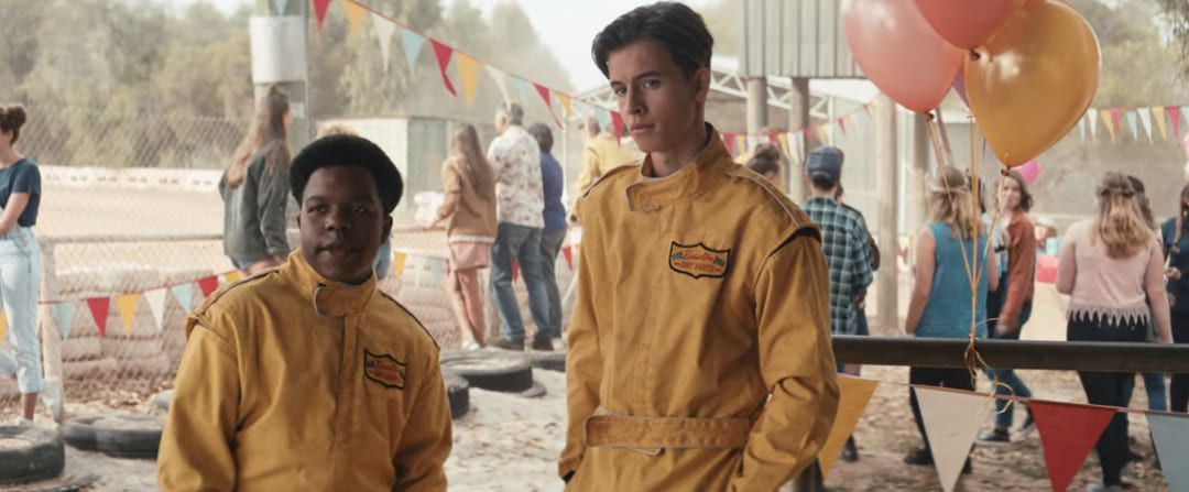 William Lodder y Darius Amarfio Jefferson en la película
