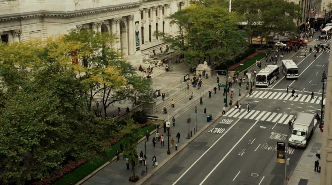 Exterior de la Biblioteca Pública de Nueva York