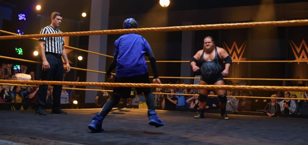 Uno de los combates de la WWE de la película
