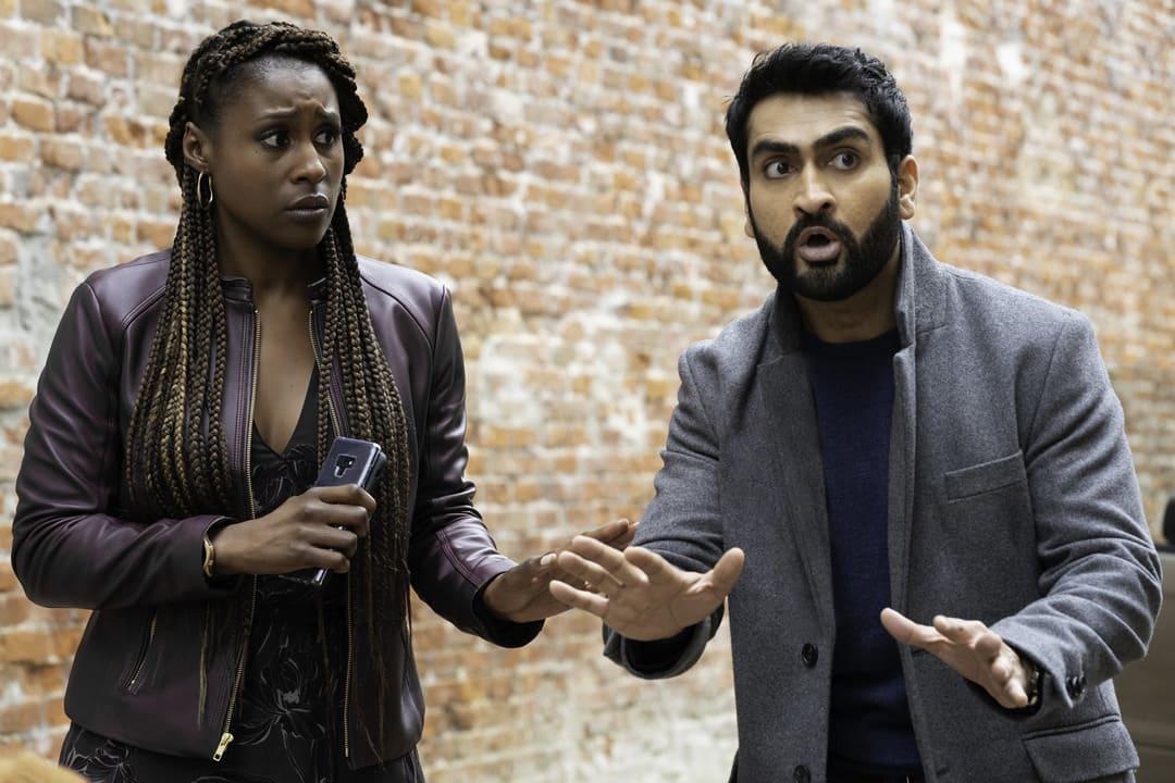 Kumail Nanjiani e Issa Rae en la película