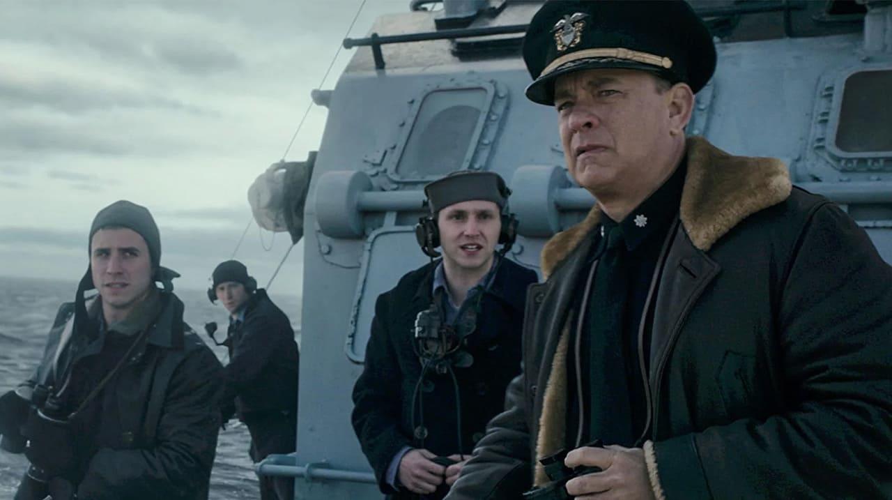 Escena de la película Greyhound: enemigos bajo el mar