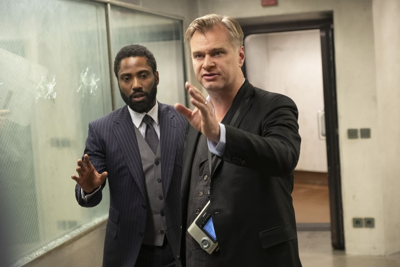 John David Washington y Christopher Nolan