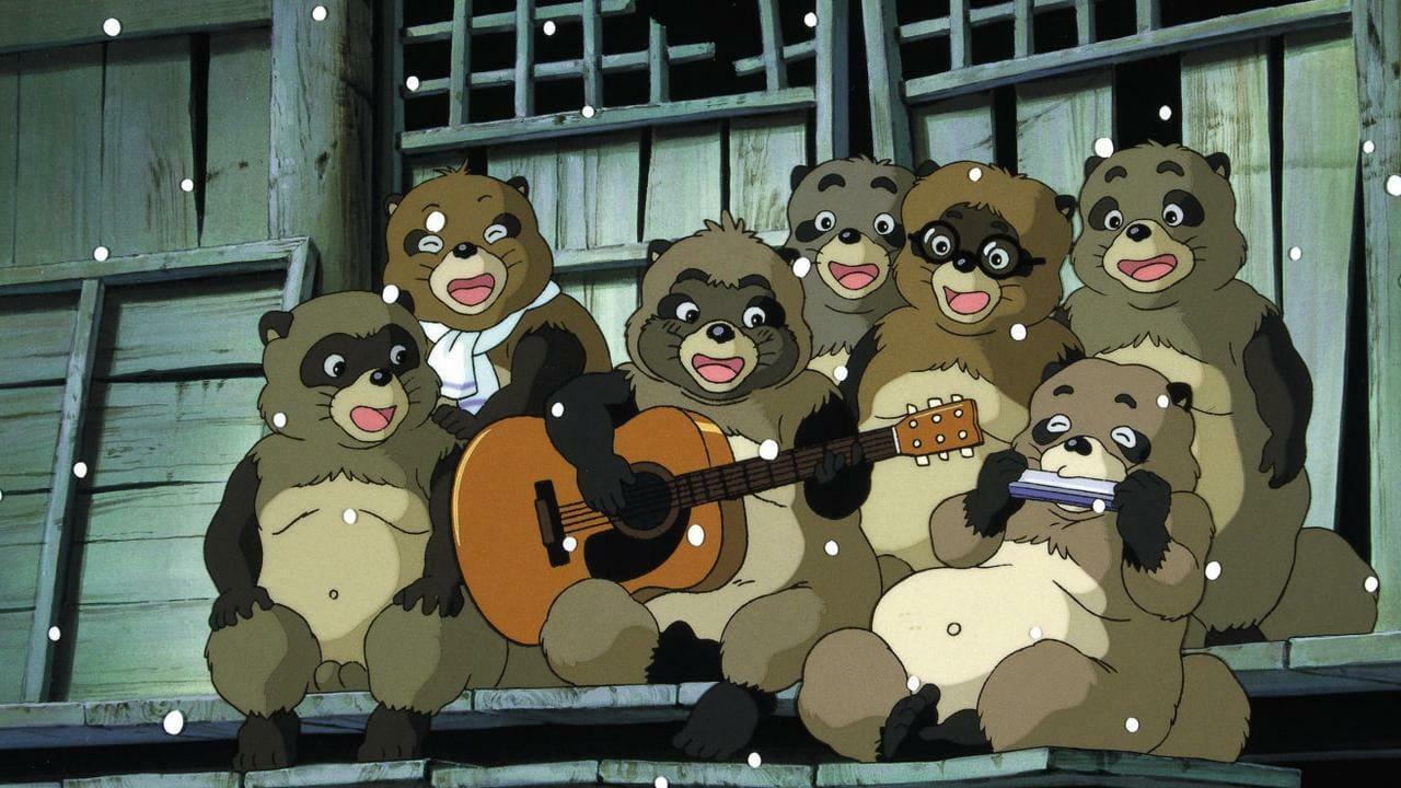 Escena de la película de animación Pompoko
