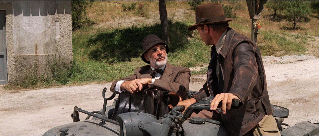 Con Harrison Ford en 'Indiana Jones y la última cruzada'