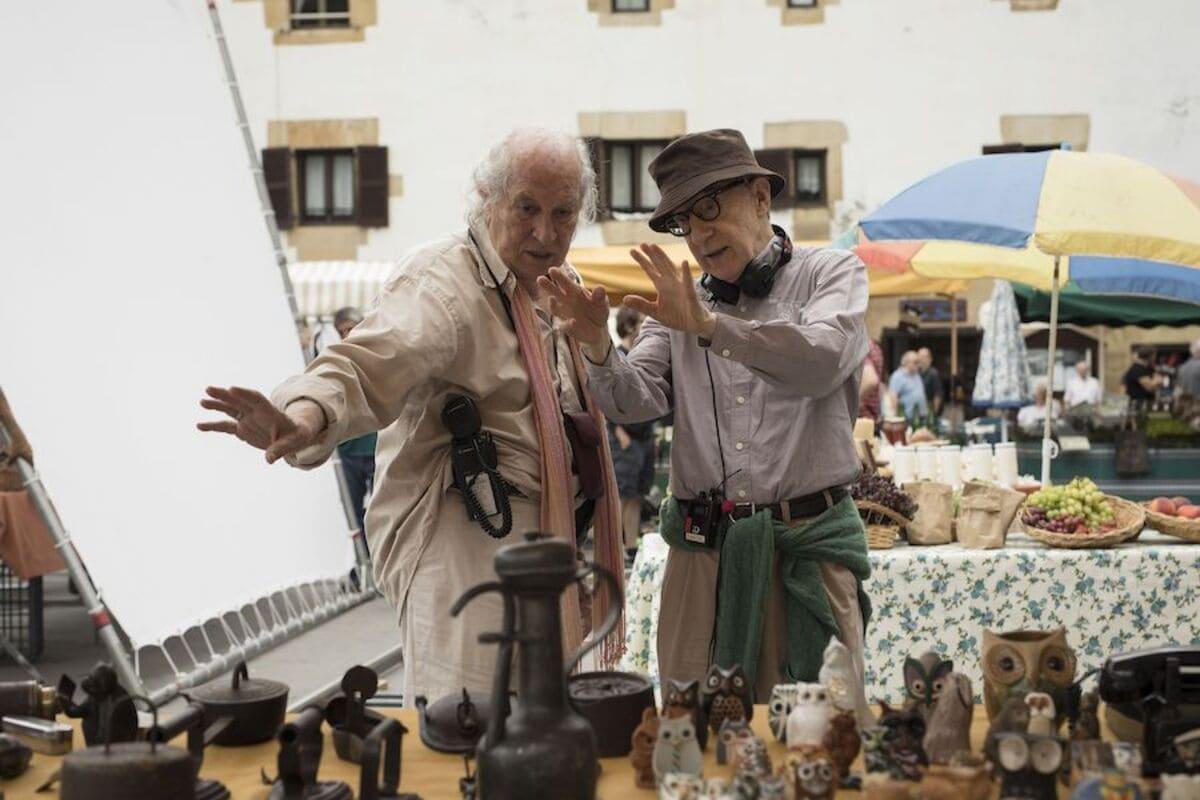 Woody Allen durante el rodaje