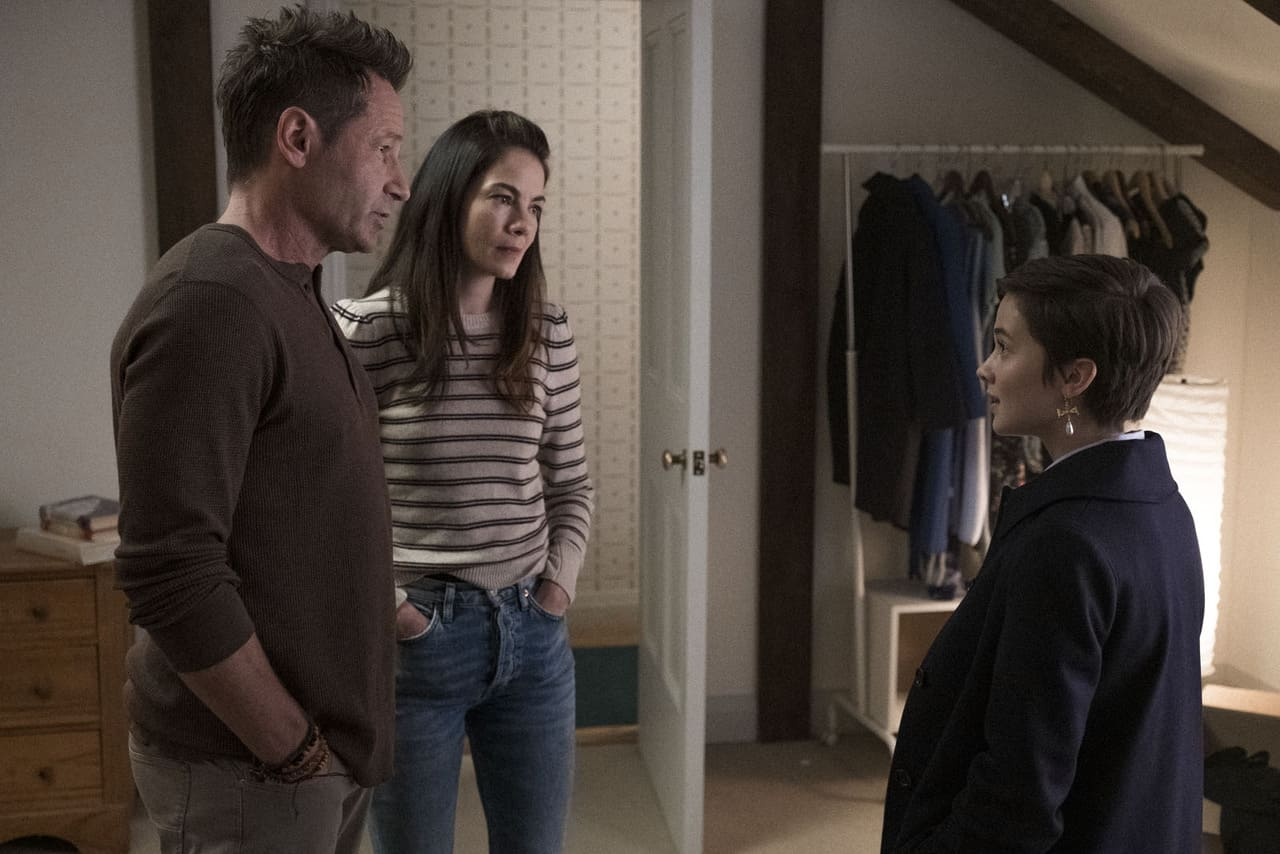 Cailee Spaeny, David Duchovny y Michelle Monaghan
