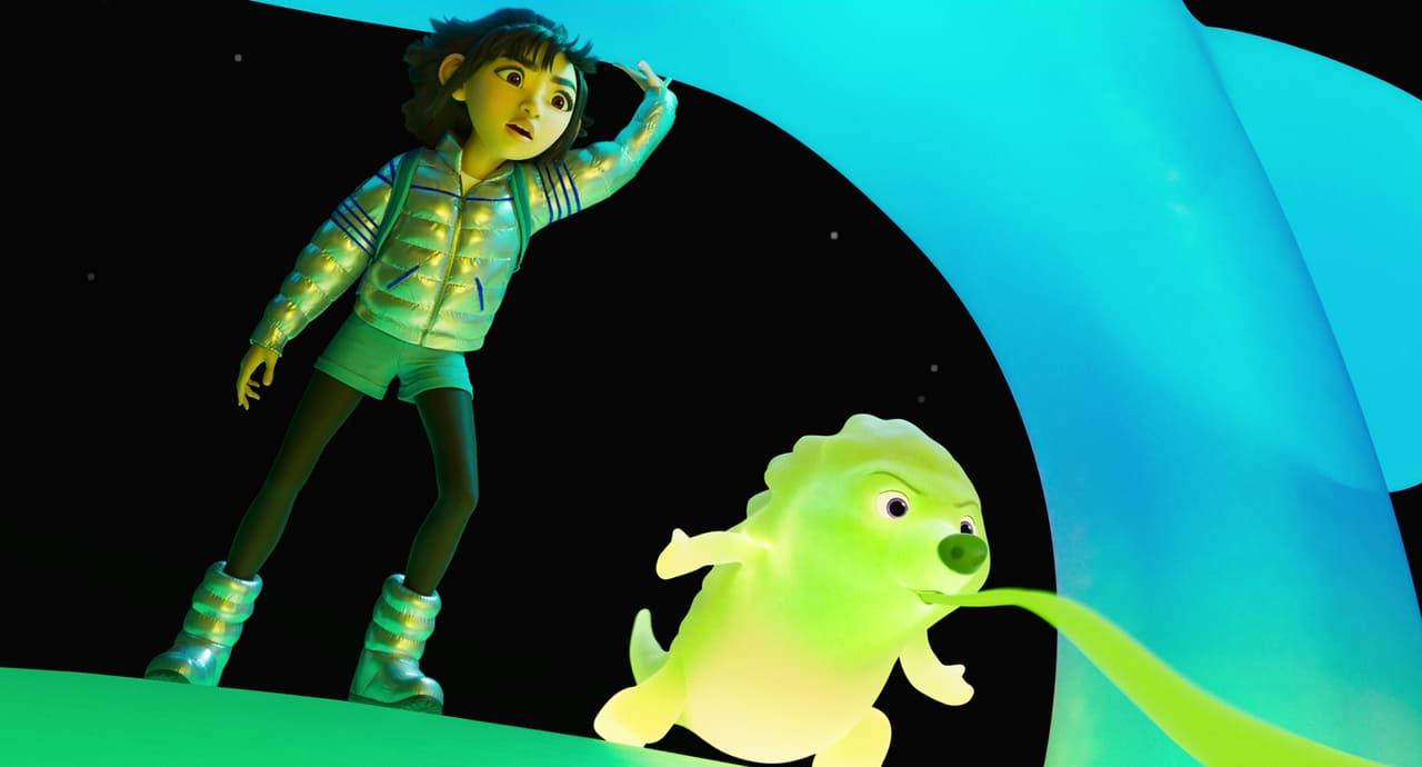 Escena de Más allá de la Luna (Netflix)